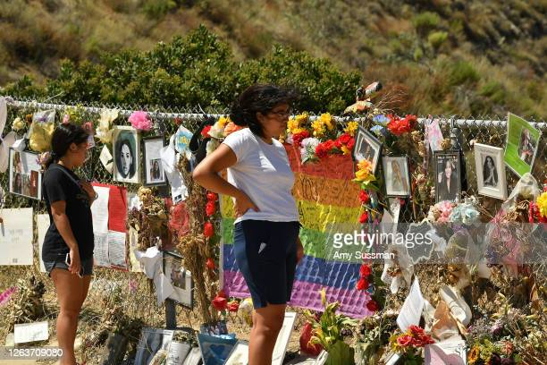 Fans honor actress Naya Rivera with a memorial at Lake Piru, where Rivera's death was ruled an accidental drowning, on August 3, 2020 in Piru,...