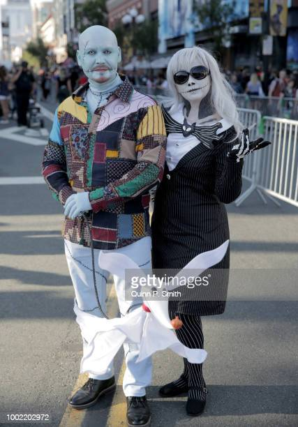 Fans in cosplay attend 2018 ComicCon International on July 19 2018 in San Diego California