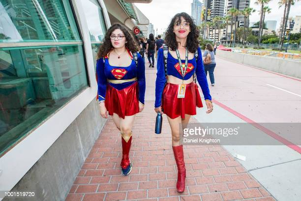 Fans in cosplay attend Preview Night at ComicCon International at San Diego Convention Center on July 18 2018 in San Diego California