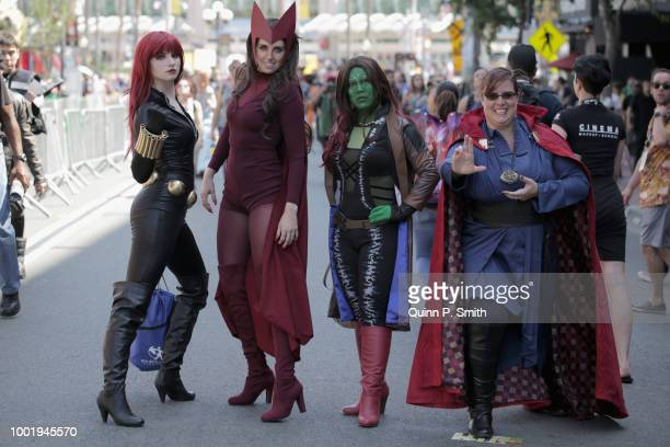Fans in cosplay attends 2018 ComicCon International on July 19 2018 in San Diego California