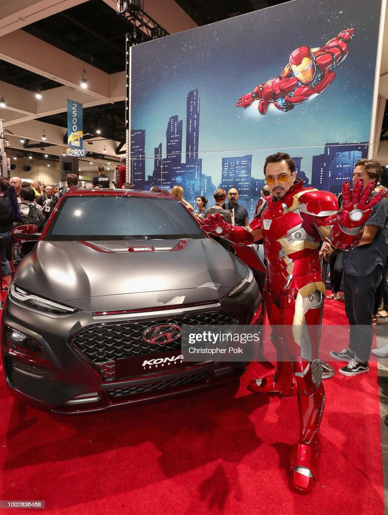 Hyundai Kona Iron Man At San Diego ComicCon Day Foton Och - San diego convention center car show