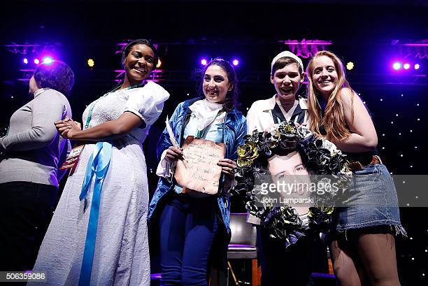Fans in costume attend BroadwayCon 2016 at the Hilton Midtown on January 22 2016 in New York City