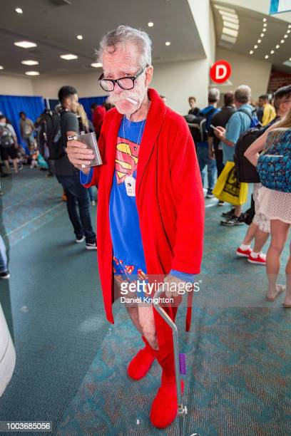 Fans in costume attend ComicCon International on July 21 2018 in San Diego California