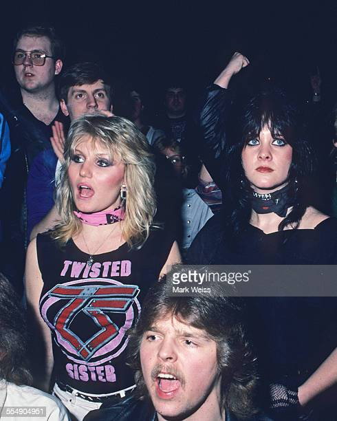 Fans in the audience at a Twisted Sister concert United States 1984