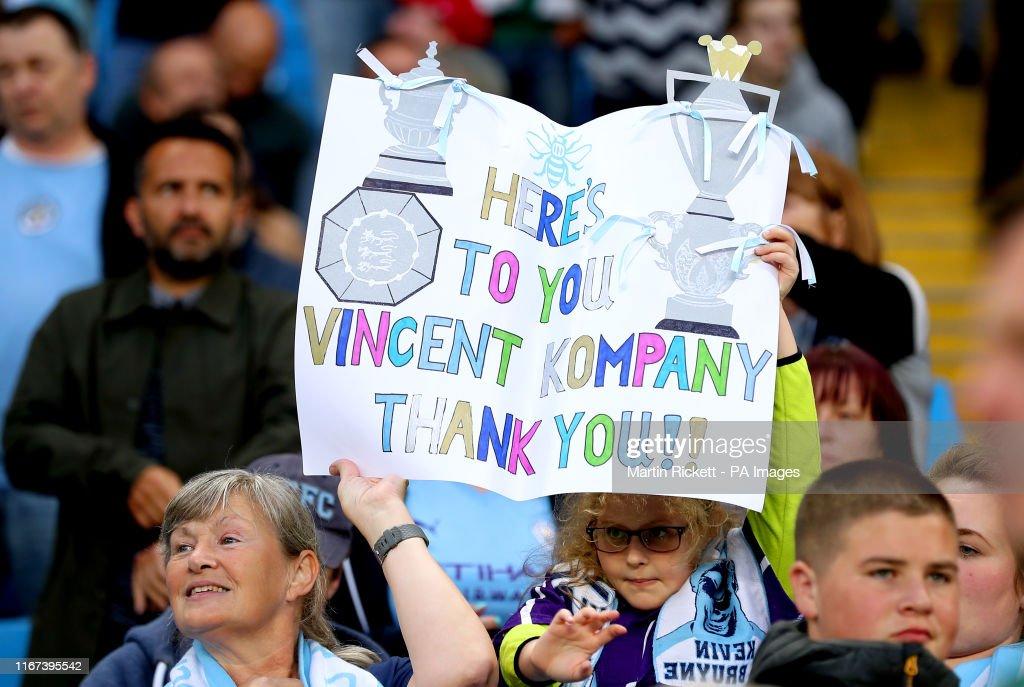 Vincent Kompany Testimonial - City Legends XI v Premier League All Stars - Etihad Stadium : News Photo