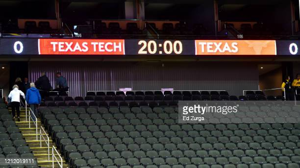 Fans leave Sprint Center after it was announced that the Big 12 basketball tournament had been cancelled due to growing concerns with the Coronavirus...