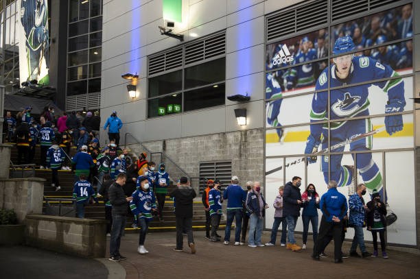 CAN: Vancouver Canucks Hockey Team Plays First Full Capacity Home Game