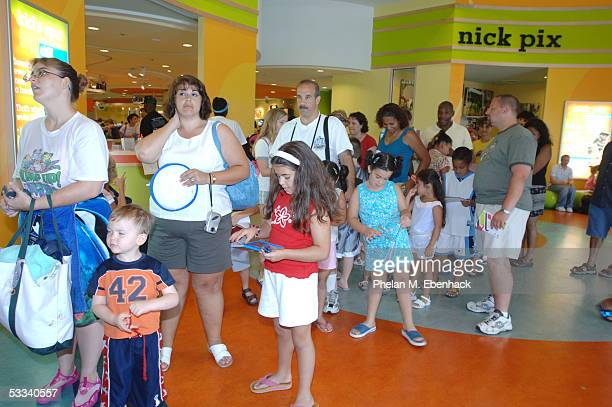 Fans line up for a meetandgreet with Magnus Scheving and Julianna Rose Mauriello from the Nick Jr series LazyTown as they celebrated the kickoff of...