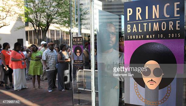 Fans line up outside Royal Farms Arena before Prince's Baltimore concert on Sunday May 10 2015
