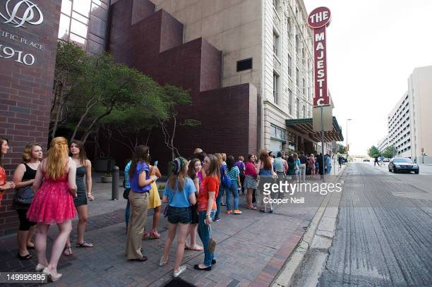Fans line up outside the Majestic Theater before a live taping of CW's 'The Next' on August 7 2012 in Dallas Texas