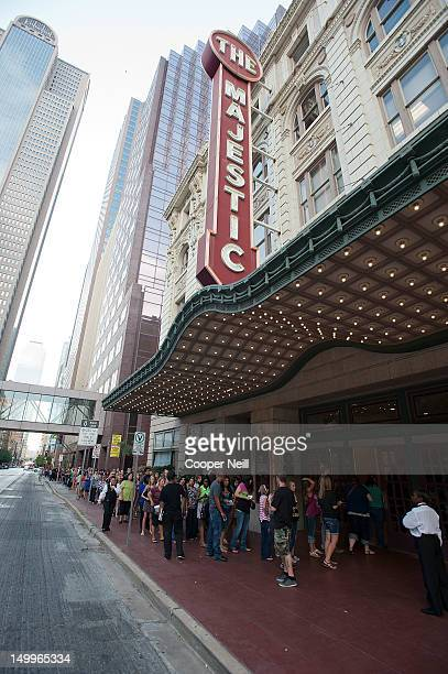 Fans line up outside The Majestic Theater before the taping of CW's The Next on August 7 2012 in Dallas Texas