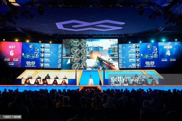 Fans look on during the FACEIT ECS Season 6 finals between Astralis and MIBR on November 25 2018 in Arlington Texas