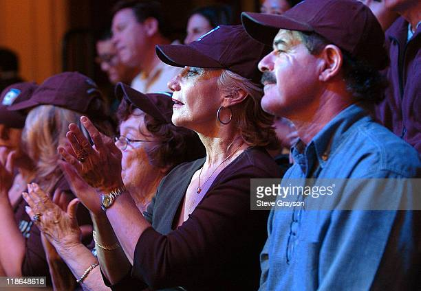 Fans look on during the final table of the World Poker Tour's Doyle Brunson North American Poker Championship at the Bellagio Hotel in Las Vegas...
