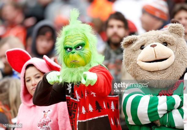 Fans look on during the first quarter between the Cincinnati Bengals and the Cleveland Browns at FirstEnergy Stadium on December 23 2018 in Cleveland...