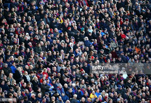 Fans look on during the Premier League match between Crystal Palace and Sunderland at Selhurst Park on February 4 2017 in London England