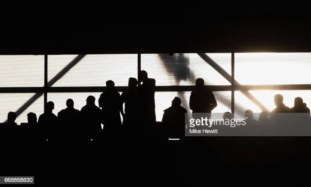 Fans look on during the Premier League match between Southampton and Manchester City at St Mary's Stadium on April 15 2017 in Southampton England