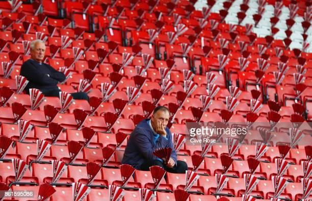 Fans look on from the stands prior to the Premier League match between Southampton and Newcastle United at St Mary's Stadium on October 15 2017 in...