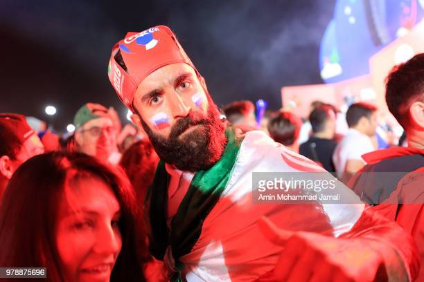 fans looks on before match Iran and spain on June 19 2018 in Kazan Russia