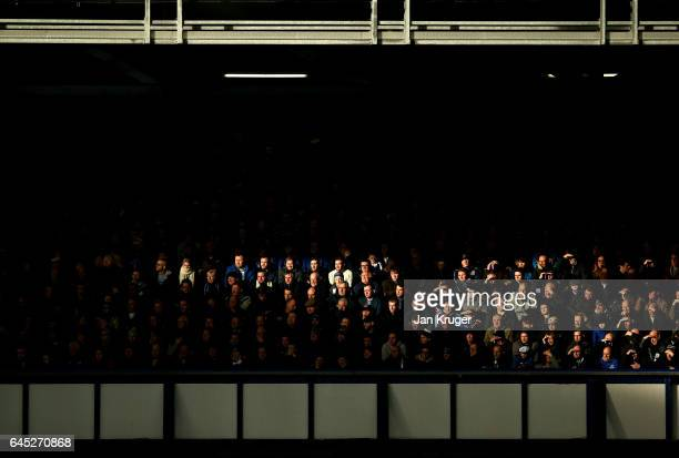 Fans looks on during the Premier League match between Everton and Sunderland at Goodison Park on February 25 2017 in Liverpool England