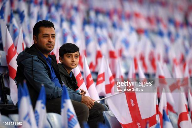 Fans looks on prior to the international friendly match between England and Switzerland at The King Power Stadium on September 11 2018 in Leicester...