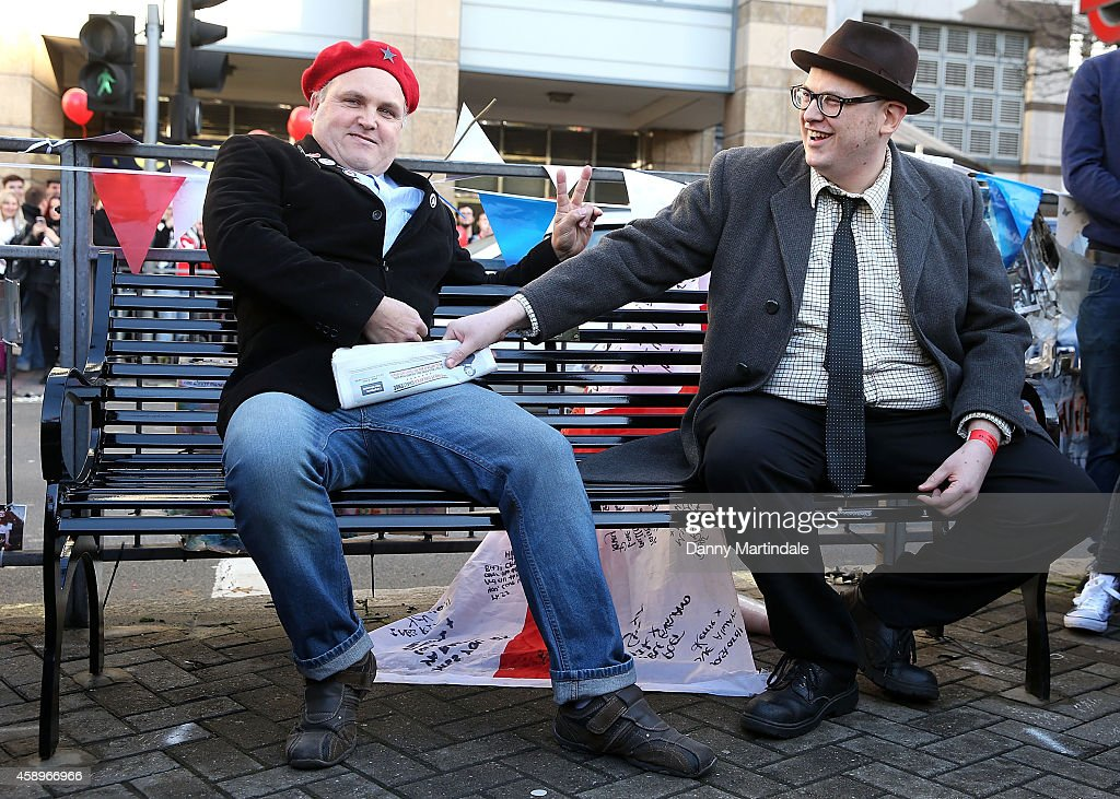 Rik Mayall Memorial Bench Unveiling : News Photo