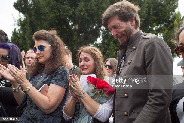 Fans mourn graveside after funeral services for Soundgarden frontmanÊChris Cornell at Hollywood Forever Cemetery on May 26 2017 in Hollywood...