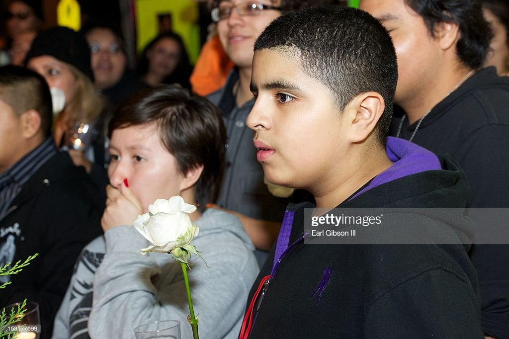 Fans mourn the death of Jenni Rivera at a candlelight vigil on December 10, 2012 in Long Beach, California.