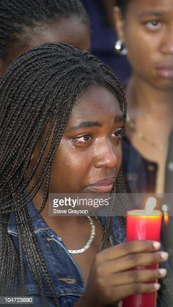 Fans mourn the passing of actress/singer Aaliyah during a candlelight vigil in Leimert Park In Los Angeles Aaliyah and eight members of her entourage...