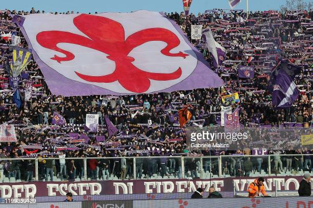 Fans of ACF Fiorentina during the Serie A match between ACF Fiorentina and Atalanta BC at Stadio Artemio Franchi on February 8, 2020 in Florence,...