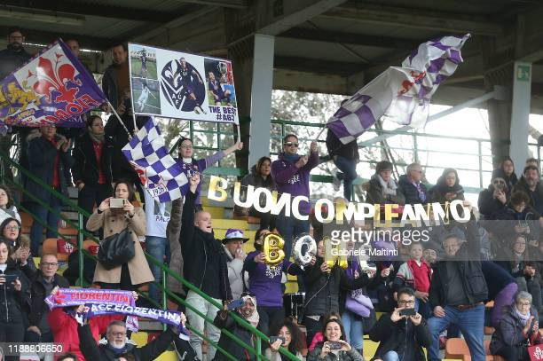 Fans of ACF Fiorentina women during the Women Serie A match between ACF Fiorentina and FC Internazionale at Stadio Artemio Franchi on December 15...