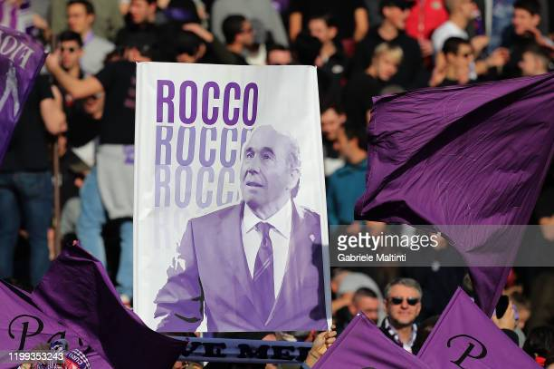 Fans of ACF Firoentina during the Serie A match between ACF Fiorentina and Atalanta BC at Stadio Artemio Franchi on February 8 2020 in Florence Italy