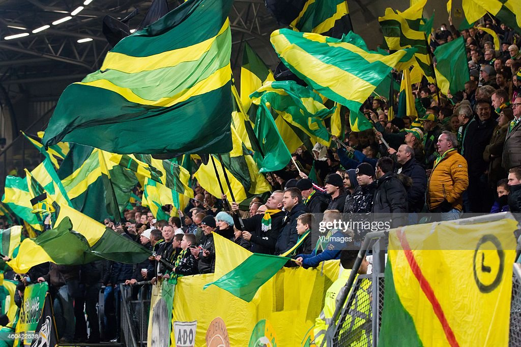 Fans Of Ado Den Haag With Flags During The Dutch Eredivisie Match Nieuwsfoto S Getty Images