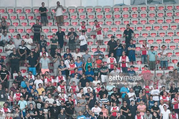 Fans of Ajax during the UEFA Champions League Qualifying match between Nice and Ajax Amsterdam at Allianz Riviera Stadium on July 26 2017 in Nice...