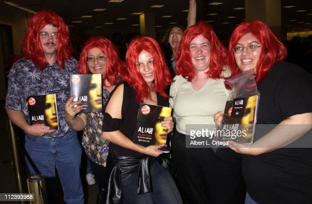 Fans of Alias during InStore Signing for Alias Declassified by Cast Members at Barnes Noble Bookstore at The Grove in Los Angeles California United...