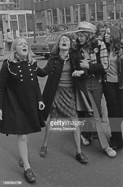 Fans of American actor and singer David Cassidy during his appearance at the Empire Pool in Wembley, London, UK, 17th March 1973.