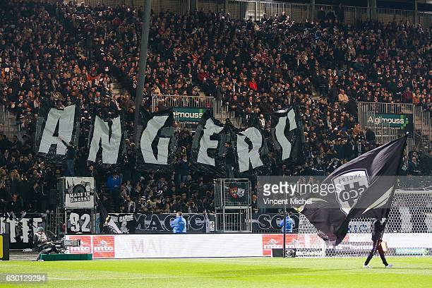 Fans of Angers during the French Ligue 1 match between Angers and Nantes on December 16 2016 in Angers France
