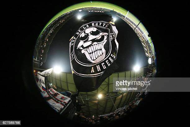 Fans of Angers during the Ligue 1 match between Angers SCO and FC Lorient on December 3 2016 in Angers France