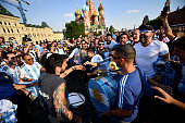 moscow russia fans argentina cheer at
