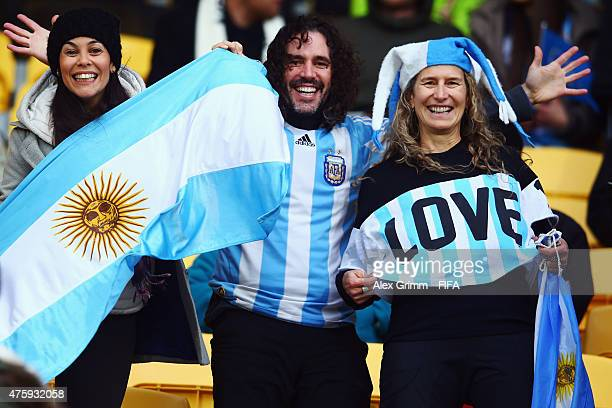 Fans of Argentina enjoy the atmosphere prior to the FIFA U20 World Cup New Zealand 2015 Group B match between Austria and Argentina at Wellington...