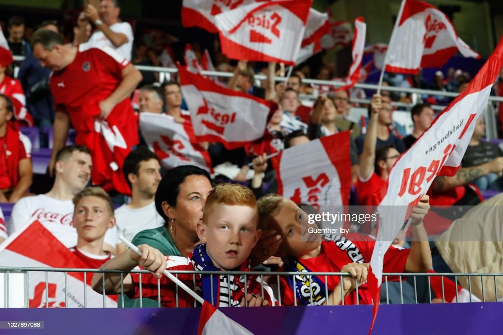 Fans of Austria during the International Friendship game between Austria and Sweden at the Generali Arena on September 06, 2018 in Vienna, Austria.