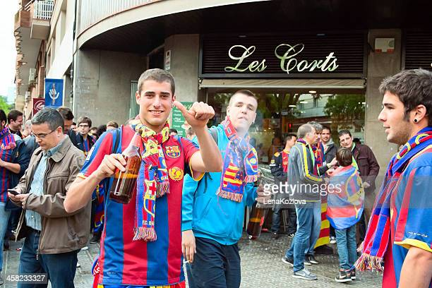 fans of barcelona fc - real madrid barcelona stock pictures, royalty-free photos & images