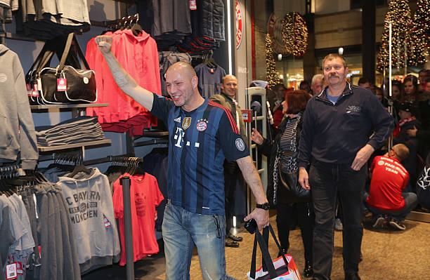 fc bayern muenchen opens fan shop in oberhausen photos and images getty images. Black Bedroom Furniture Sets. Home Design Ideas