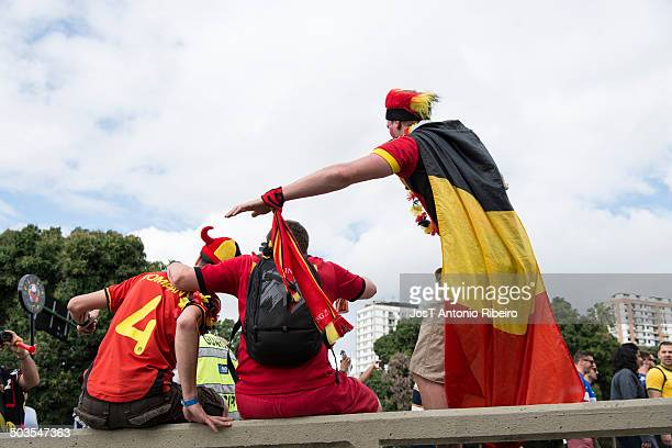 Fans of Belgium in the 2014 FIFA World Cup.