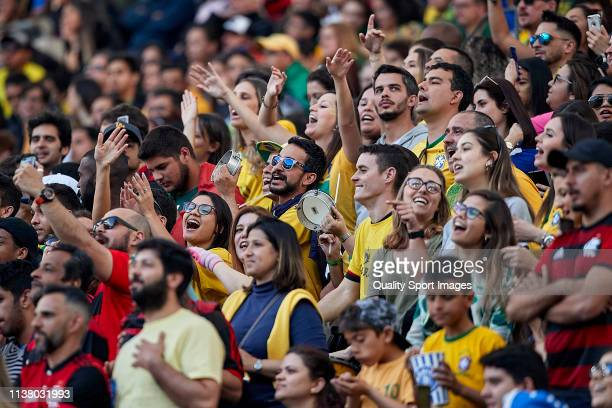 Fans of Brazil during the International Friendly match between Brazil and Panama at Estadio do Dragao on March 23 2019 in Porto Portugal