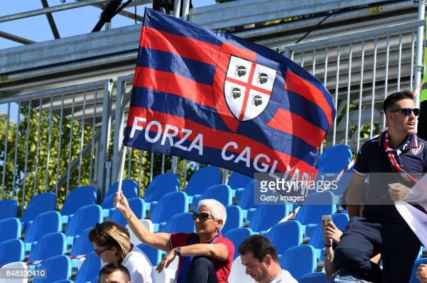 Fans of Cagliari Calcio the Serie A match between Spal and Cagliari Calcio at Stadio Paolo Mazza on September 17 2017 in Ferrara Italy