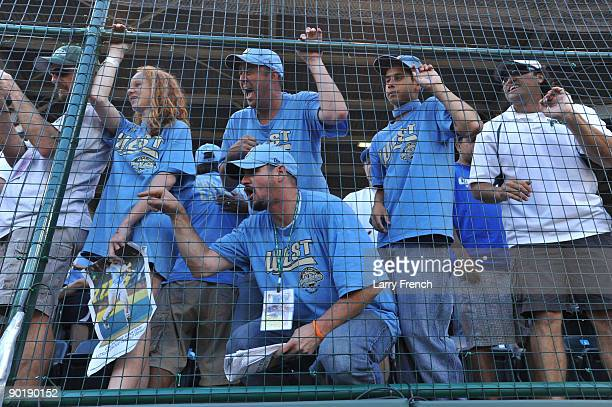 Fans of California cheer after the game against Asia Pacific in the little league world series final at Lamade Stadium on August 30 2009 in...
