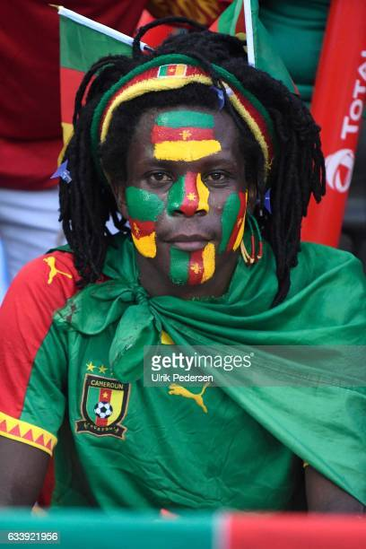 Fans of Cameroon during the African Nations Cup Final match between Cameroon and Egypt at Stade de L'Amitie on February 5 2017 in Libreville Gabon