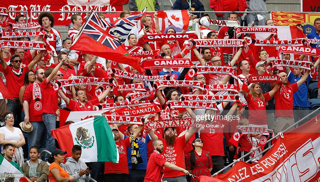 Fans of Canada cheer prior to the match against Mexico at CenturyLink Field on July 11, 2013 in Seattle, Washington. Mexico defeated Canada 2-0.