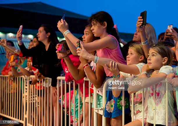 Fans of Carly Rose Sonenclar during her concert at Playland on June 29 2013 in Rye New York