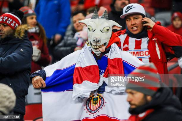 Fans of CD Chivas Guadalajara before the 2018 CONCACAF Champions League Final match between Toronto FC and CD Chivas Guadalajara at BMO Field in...